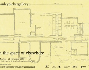 In the space of elsewhere poster invite